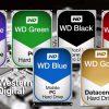 تفاوت رنگ های هارد وسترن دیجیتال