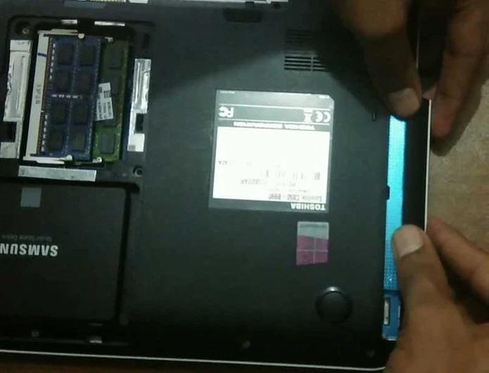 چگونه هارد SSD را جایگزین DVD رایتر لپ تاپ کنیم ؟