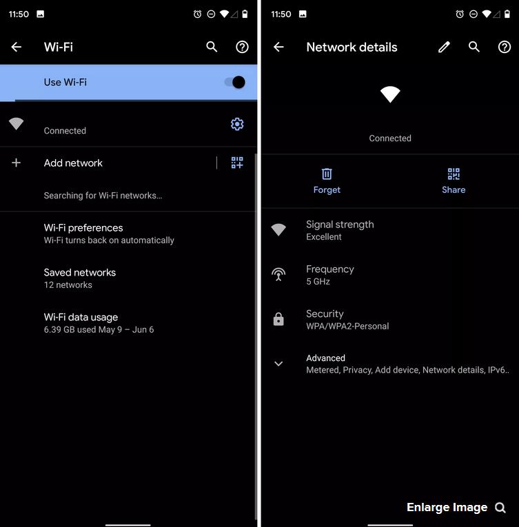 اشتراک گذاری Wifi از طریق کد QR - بهترین ویژگی های اندروید 10