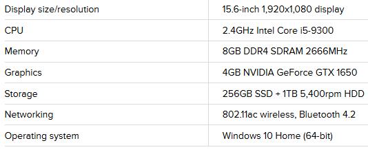 مشخصات لپ تاپ دل G5 15