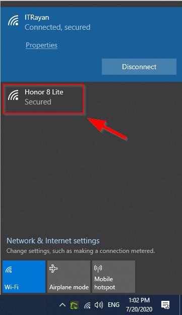 نحوه وصل شدن لپتاپ به اینترنت گوشی با HotSpot و کابل USB