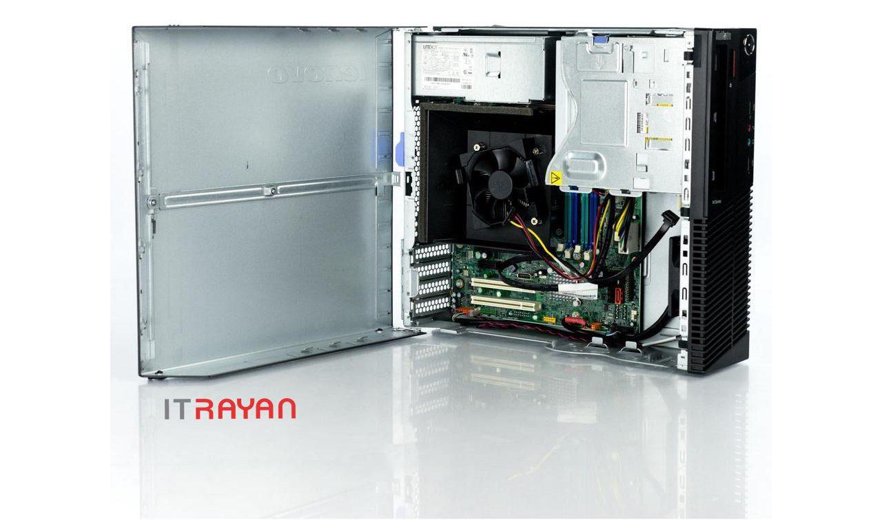 نمای داخل کیس Lenovo ThinkCentre M92p SFF