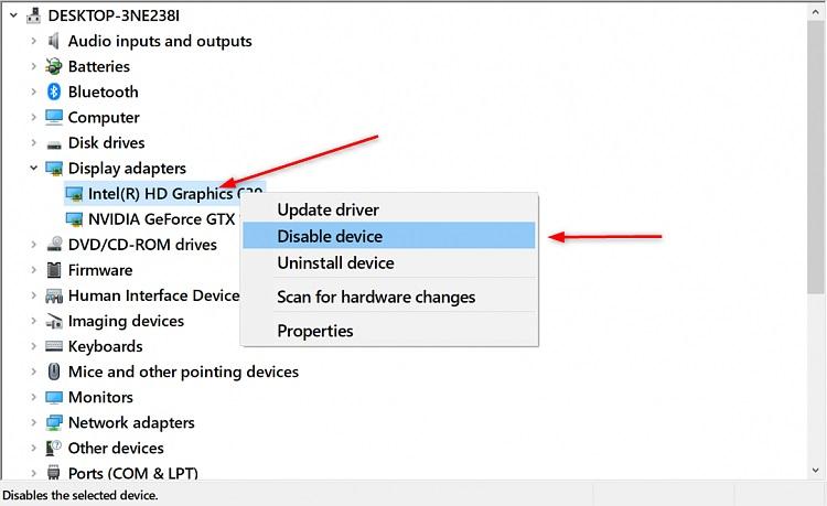 نحوه غیرفعال کردن گرافیک آنبرد یا گرافیک اینتل لپ تاپ