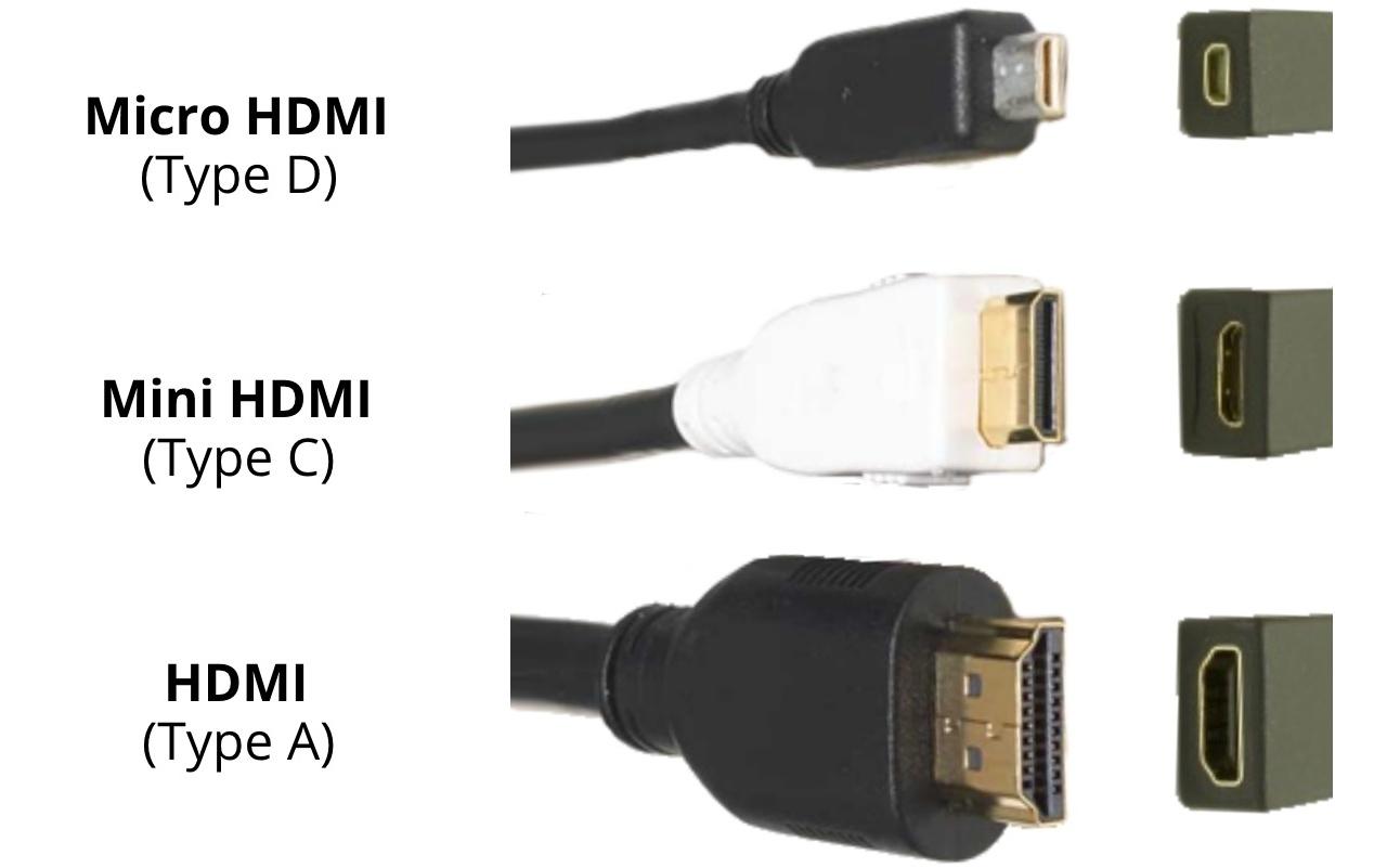 انواع اتصالات HDMI